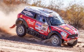 Picture Sand, Red, Mini, Dust, Sport, Speed, Race, Rally, SUV, Rally, 301, X-Raid Team, MINI Cooper, …