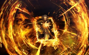 Picture fire, flame, The Witcher, Herald, The Witcher 3: Wild Hunt, The Witcher 3: Wild Hunt, …