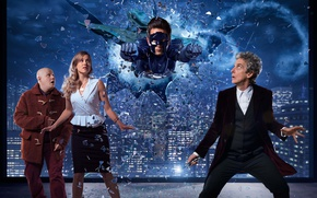 Picture the sky, glass, fragments, the city, fiction, home, window, Doctor Who, superhero, Doctor Who, Peter …