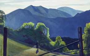 Picture landscape, mountains, picture, Rockwell Kent, Rockwell Kent, In Adirondack
