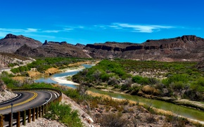 Picture USA, Texas, Big Bend National Park, Rio Grande River