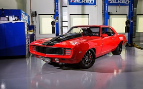 Picture Chevrolet, 1969, Camaro, Performance, Wheels, Forgeline, GZ3, Speed tech, RedZed