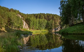 Picture Nature, Mountains, Lake, Forest