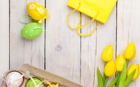 Wallpaper tulips, spring, egg, holiday, Easter, Easter