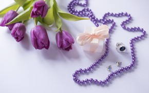 Picture flowers, gift, bouquet, tulips, love, fresh, flowers, romantic, tulips, gift, spring, purple, with love