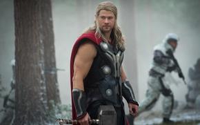 Picture gun, soldier, armor, weapon, Thor, rifle, Chris Hemsworth, god, Thor: Ragnarok