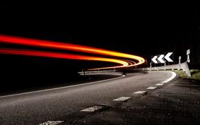 Wallpaper night, road, lights