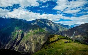 Picture the sky, clouds, mountains, rocks, Peru, hill, Apurimac