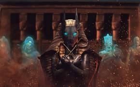 Picture spirit, Ghost, Pharaoh, Egypt, ruins, mummy, God, mummy, Anubis, Anubis