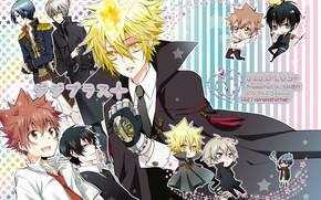 Picture anime, art, characters, mafia, Katekyo Hitman REBORN!