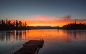 Picture the sky, landscape, mountains, lake
