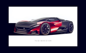 Picture Auto, Figure, Machine, Background, Peugeot, Car, Car, Art, Art, Rendering, Gran Turismo, Vision Gran Turismo, ...
