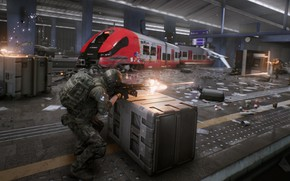 Picture metro, the game, soldiers, shootout, World War 3