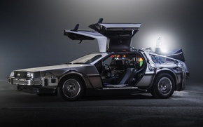 Picture light, Back to the Future, sci fi, The DeLorean