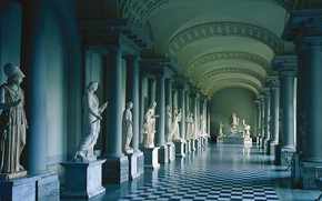 Wallpaper column, the Museum of antiquities of Gustav III, Royal Palace, Stockholm, Sweden, sculpture