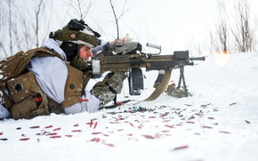 Picture weapons, soldiers, Norwegian Army