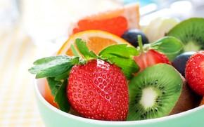 Picture orange, kiwi, strawberry, fruit