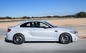 Picture movement, coupe, track, BMW, profile, 2018, F87, M2, M2 Competition