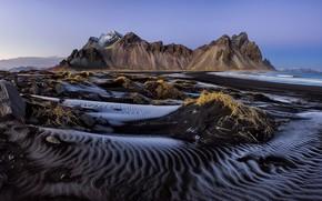 Picture beach, iceland, vestrahorn