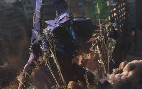Picture robot, anime, Evangelion, Evangelion