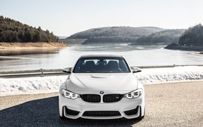 Wallpaper White, F80, BMW, Front