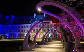 Picture night, lights, France, backlight, Colmar, Colmar