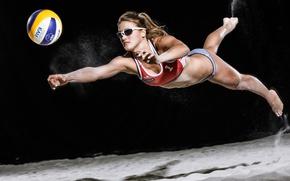 Wallpaper girl, the ball, sport