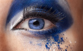Picture blue, eyes, model, make up