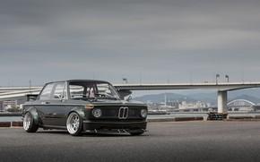Picture Auto, Bridge, The city, River, Retro, BMW, Machine, Boomer, BMW, Car, 2002, Coupe, Old, BMW …