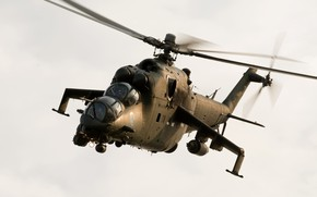 Picture helicopter, shock, Mi-24V