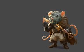 Picture cheese, key, art, rat, Alessandro Poli, Rat Thief