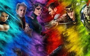 Picture Thor, Chris Hemsworth, Chris Hemsworth, Mark Ruffalo, Tom Hiddleston, Cate Blanchett, Cate Blanchett, Tessa Thompson, …
