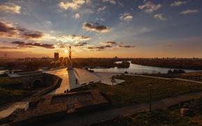 Picture dawn, morning, Serbia, Belgrade, Stari Grad