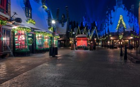 Picture Home, Lights, Night, The city, Disneyland