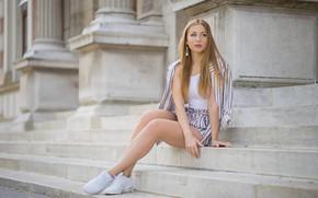 Picture summer, girl, steps, legs, Irina