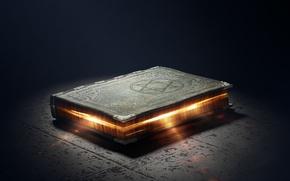 Picture magic, glow, symbol, book