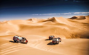 Picture The sky, Sand, Nature, Speed, three, Beauty, Toyota, Rally, Rally, The roads, Dune, Silk road, …