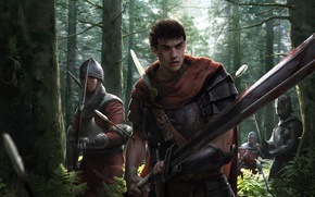 Picture sword, blood, game, forest, armor, anime, man, army, ken, blade, Berserk, manga, pearls, powerful, strong, …
