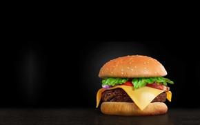 Wallpaper Burger, Burger, art, food, Mendez Cakson, minimalism