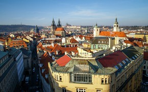 Picture the sky, city, the city, photo, street, view, home, Prague, Czech Republic, beautiful, architecture, journey, …