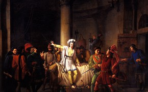 Picture 1819, The conclusion of Joan of Arc into custody in Rouen, Pierre-Henri, Revoil