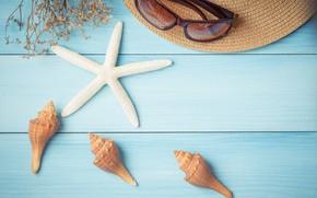 Picture beach, summer, stay, star, vacation, hat, shell, summer, happy, beach, sand, vacation, starfish, seashells