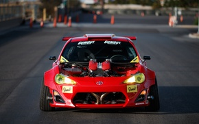Wallpaper engine, motor, photographer, tuning, Engined, Ferrari, Toyota GT86, front view, Larry Chen