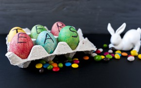 Picture Rabbit, Candy, Easter, Eggs, Holiday