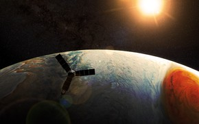 Picture space, planet, satellite, Jupiter, Perijove 7