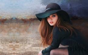 Picture girl, portrait, hat, art, Mandy JurgensPRO, Portrait Practice