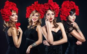 Picture girls, flowers, Amadeus, Amadeus Electric Quartet