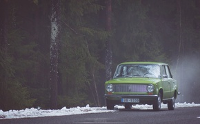 Picture green, lada, 2101, Latvia, 2016
