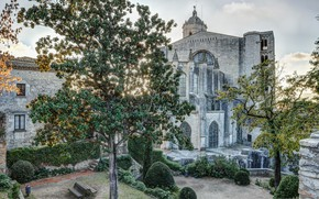 Picture Spain, Cathedral, back yard, Girona