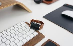 Wallpaper Watch, Keyboard, Mouse